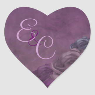 Distressed Purple Rose Wedding Sticker