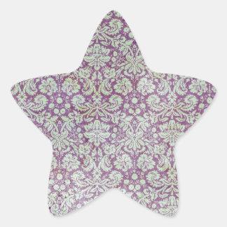 Distressed purple wallpaper pattern star sticker