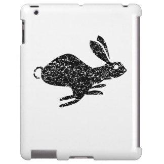 Distressed Rabbit Running Silhouette