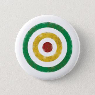 Distressed Rasta Rings 6 Cm Round Badge