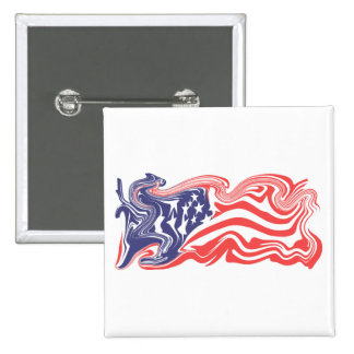 Distressed/Recessed American Flag - Customisable Pins