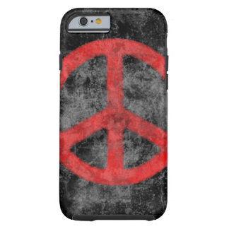 Distressed Red Peace Sign iPhone 6 case