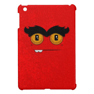 Distressed Reds Funny Face Unibrow Monster iPad Mini Covers