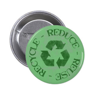 Distressed Reduce Reuse Recycle Button