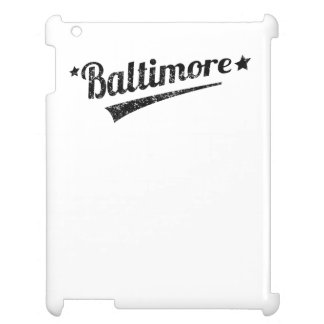 Distressed Retro Baltimore Logo iPad Cover