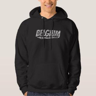 Distressed Retro Belgium Logo Hoodie