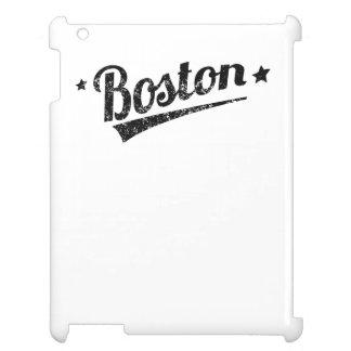 Distressed Retro Boston Logo Cover For The iPad
