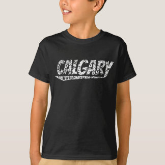 Distressed Retro Calgary Logo T-Shirt
