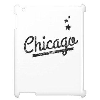 Distressed Retro Chicago Logo iPad Cover