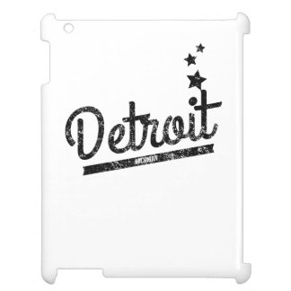 Distressed Retro Detroit Logo Cover For The iPad 2 3 4