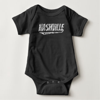 Distressed Retro Nashville Logo Baby Bodysuit