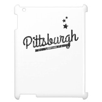 Distressed Retro Pittsburgh Logo Cover For The iPad 2 3 4
