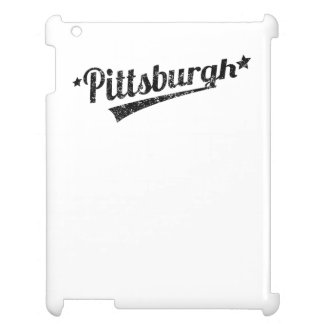 Distressed Retro Pittsburgh Logo Cover For The iPad