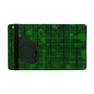 Distressed Retro Plaid Grunge Green iPad Cases