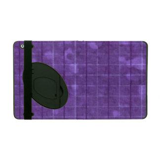 Distressed Retro Plaid Grunge Purple iPad Cases