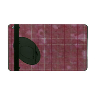 Distressed Retro Plaid Grunge Rose iPad Cases