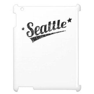 Distressed Retro Seattle Logo iPad Cases