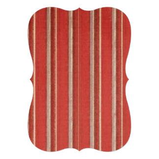Distressed Retro Stripe Coral Beige Rust Custom Invitation
