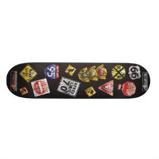 Distressed Road SIgns Skate Board Deck