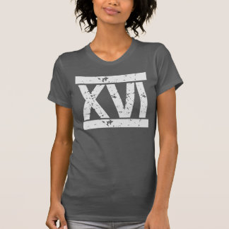 DISTRESSED Roman NUMERALS 16th Birthday Tee