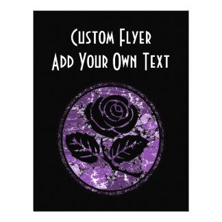 Distressed Rose Silhouette Cameo - Purple 21.5 Cm X 28 Cm Flyer