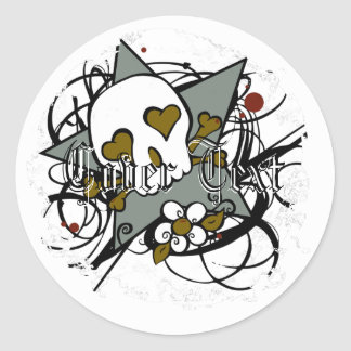 Distressed Round Stickers