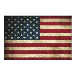 Distressed Rustic American 50 Star Flag Print Canvas Prints