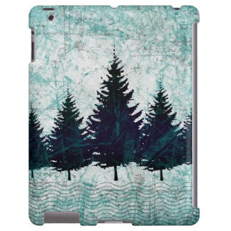 Distressed Rustic Evergreen Pine Trees Forest