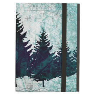 Distressed Rustic Evergreen Pine Trees Forest iPad Air Cases