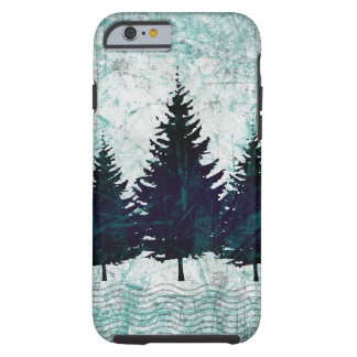 Distressed Rustic Evergreen Pine Trees Forest Tough iPhone 6 Case