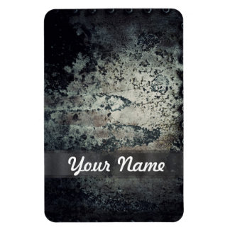 Distressed rusty metal rectangle magnet