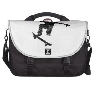 Distressed Skateboarder Silhouette Laptop Bag