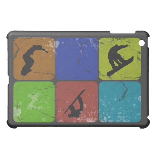 Distressed Snowboarder ipad case