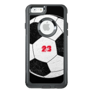 Distressed Soccer Ball with Personalized Number OtterBox iPhone 6/6s Case