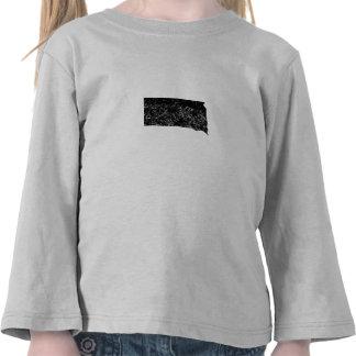 Distressed South Dakota Silhouette Shirts
