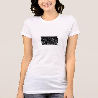 Distressed South Dakota Silhouette T-shirt