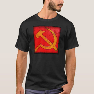 Distressed Soviet Hammer and Sickle T-Shirt