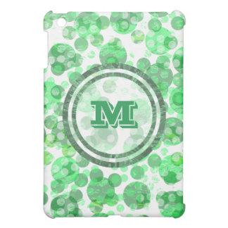 Distressed Spots Green Monogram Case For The iPad Mini