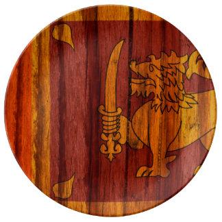 Distressed Sri Lanka Flag Plate