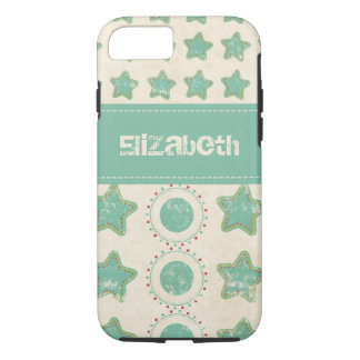 Distressed Stars & Circles Custom iPhone 7 Case