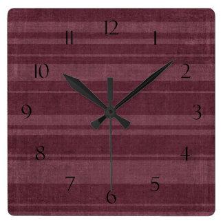 Distressed Stripe Pattern Wall Clock