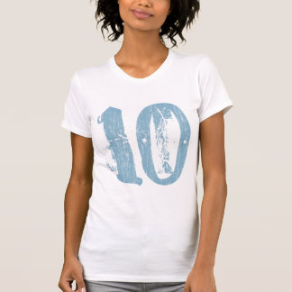 DISTRESSED STYLE NUMBER 10 SHIRT