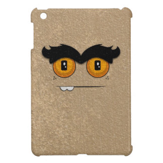Distressed Tan Funny Face Unibrow Monster iPad Mini Cover
