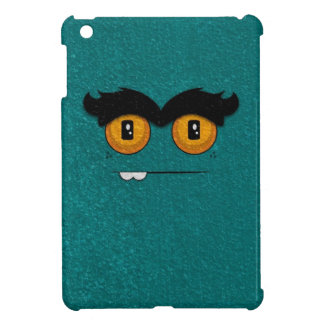 Distressed Teal Funny Face Unibrow Monster iPad Mini Case