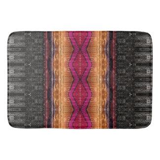 Distressed Tribal Stripe Bath Mat