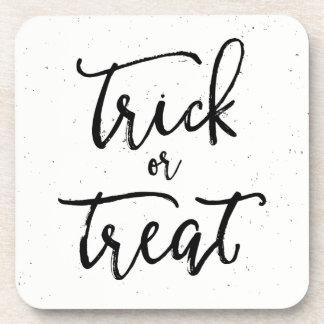 Distressed Trick Or Treat Halloween Coaster