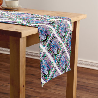 Distressed Unicorn Forest Short Table Runner