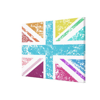 Distressed Union Flag Multicolored Canvas Print