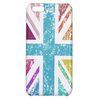 Distressed Union Flag Multicolored Cover For iPhone 5C