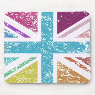 Distressed Union Flag Multicolored Mouse Pad